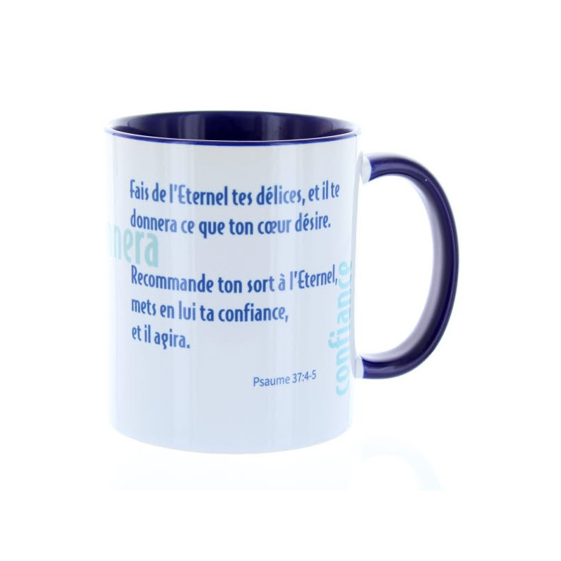 Mug Bleu Cobalt Fais de l'Eternel – MU-FK-016