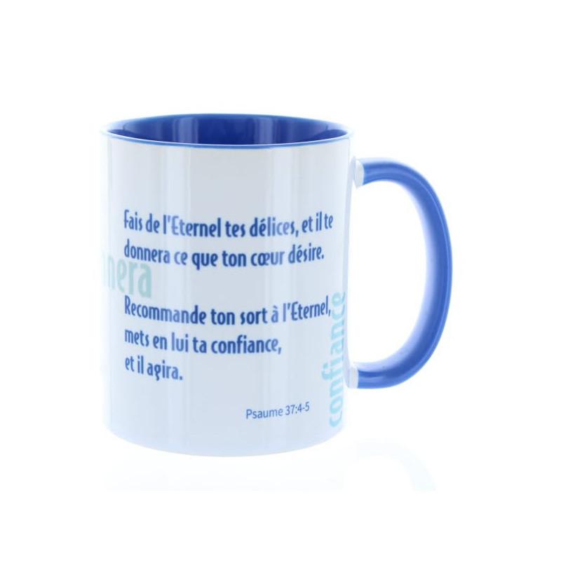 Mug Bleu Cambridge Fais de l'Eternel – MU-FH-016