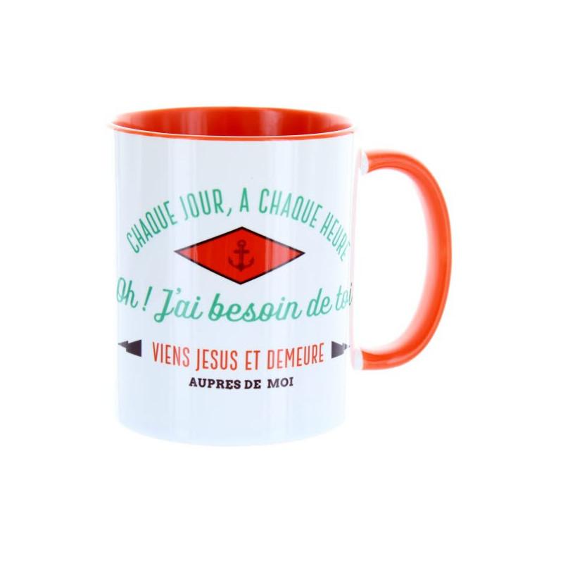 Mug Orange Chaque jour à chaque heure– MU-FC-003