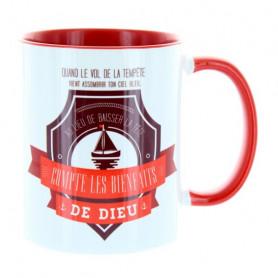 Mug Rouge Compte les bienfaits de Dieu - MU-FD-004
