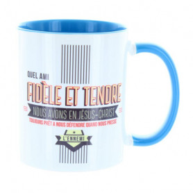 Mug Bleu clair Quel ami fidèle et tendre – MU-FG-001