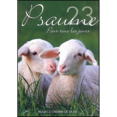 Livret Psaume 23 12 pages + enveloppe