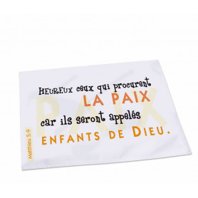 Set de Table Heureux ceux qui procurent la paix – ST-A-022