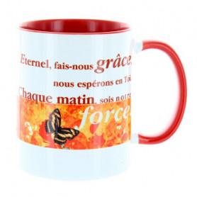 Mug Rouge Eternel fais-nous grâce… MU-FD-019