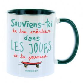 Mug Vert foncé Souviens-toi de ton créateur – MU-FJ-027