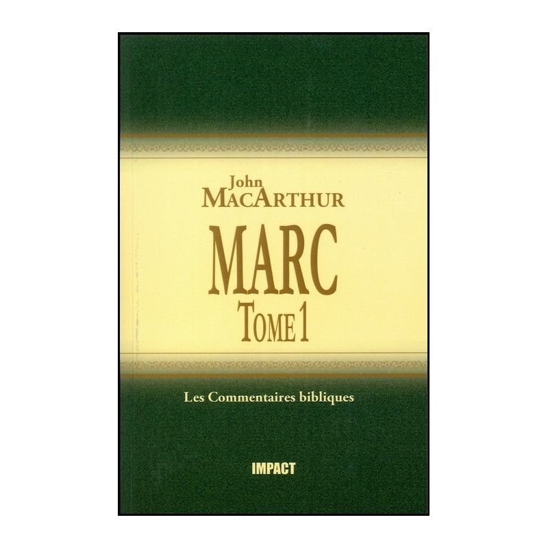 Marc Tome 1 – Commentaire MacArthur – Editions Impact