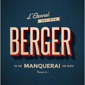 Tableau Alu Berger – Psaume 23.1 – 20x20 cm