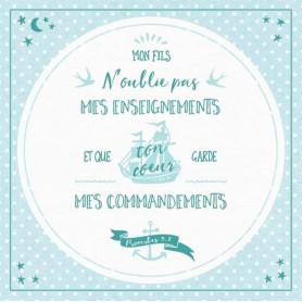 Tableau Alu Mes commandements – Prv 3.1 – 20x20 cm