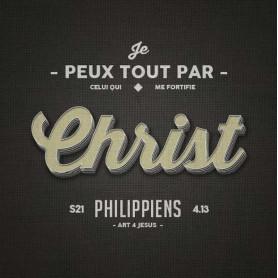 Tableau Alu Christ – Philippiens 4.13 – 20x20 cm