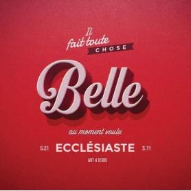 Tableau Alu Belle – Ecclésiaste 3.11 – 20x20 cm
