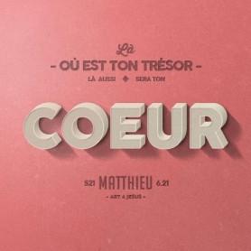 Tableau Alu Coeur – Matthieu 6.21 – 20x20 cm