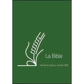 Bible Semeur 2015 compact rigide vert renforcée lin