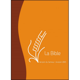Bible Semeur 2015 compacte souple duo marron/orange