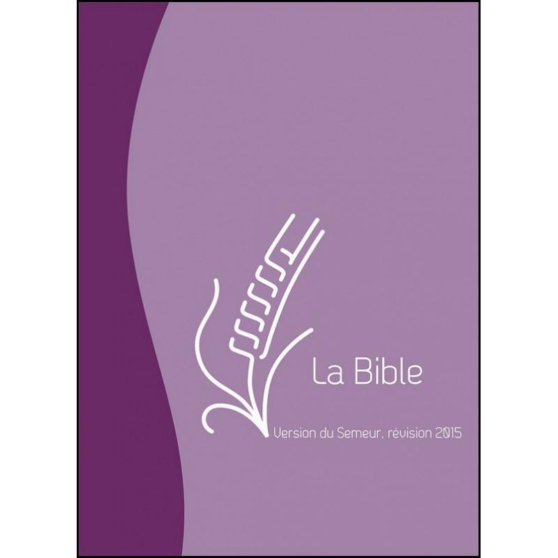 Bible Semeur 2015 compacte souple duo violet/mauve