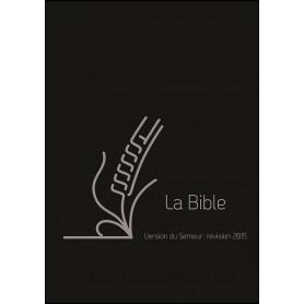 Bible Semeur 2015 compacte souple cuir noir zip