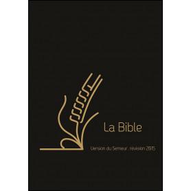 Bible Semeur 2015 compacte souple cuir noir zip onglets