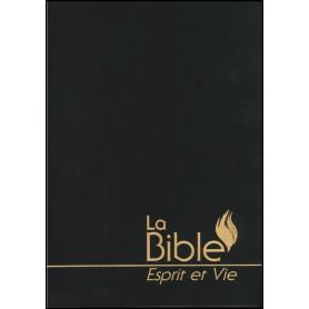 """Bible """"Esprit et Vie"""" Segond 1910 souple vinyl noir"""