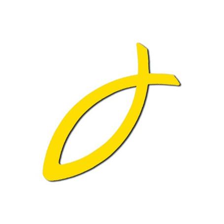 Autocollant Ichthus jaune