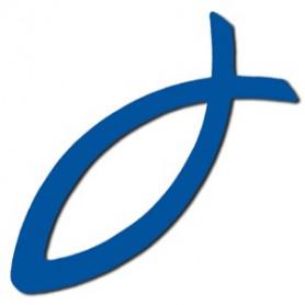 Autocollant Ichthus bleu