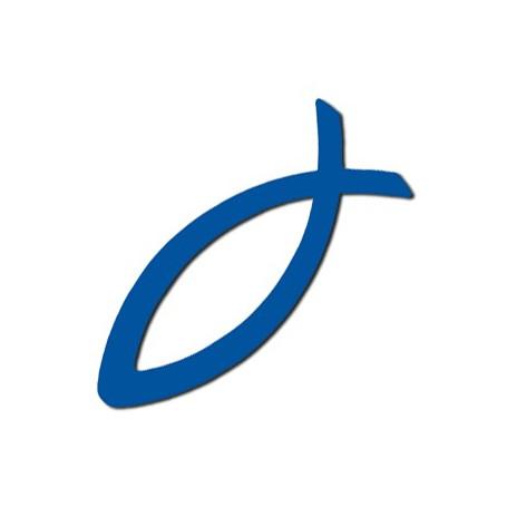 Autocollant Ichthus bleu - 71733