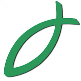 Autocollant Ichthus vert
