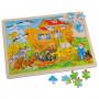 Puzzle en bois arche de Noé 96 pièces 40x30cm - 71171