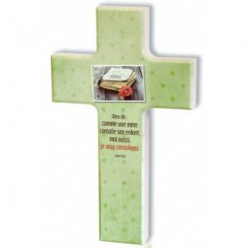 Croix en bois Dieu dit : comme une mère console – Esaie 66.13 - 74168