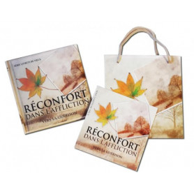 Mini Livre Réconfort dans l'affliction avec carte et sac papier