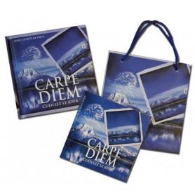 Mini Livre Carpe Diem avec carte et sac papier