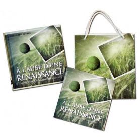 Mini Livre A l'aube d'une renaissance avec carte et sac papier