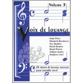 Recueil Voix de louange vol 3 (arrangement pour ensemble vocal)