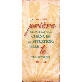 Marque-page Magnet La prière ne fait pas que changer la situation