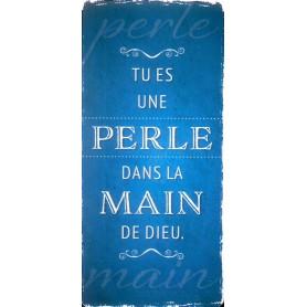 Marque-page Magnet Tu es une perle dans la main de Dieu