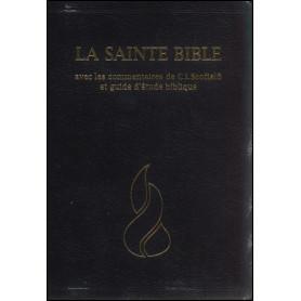 Bible Scofield NEG fibrocuir souple noir tranche dorée onglets