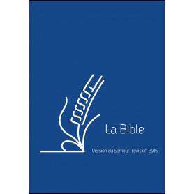 Bible Semeur 2015 mini souple vivella bleu zip