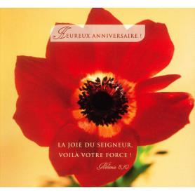 Carte double Anniversaire - Néhémie 8.10
