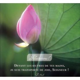 Carte double Félicitations! - Psaume 92.5