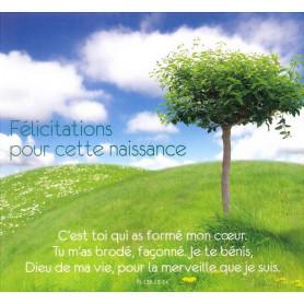 Carte double Naissance - Psaume 138 13-14