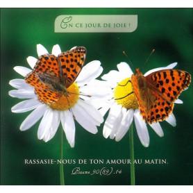 Carte double En ce jour de joie - Psaume 90(89).14
