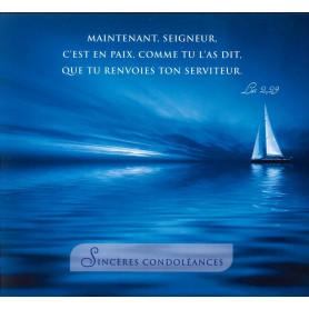 Carte double Sincères Condoléances - Luc 2.29