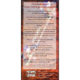 Carte de proclamation pour notre gouvernement