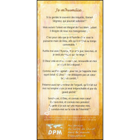 Carte de proclamation Je m'humilie