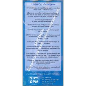 Carte de proclamation Libéré de la peur