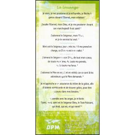 Carte de proclamation Louange
