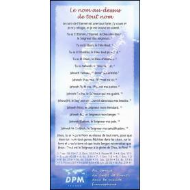 Carte de proclamation Le nom au-dessus de tout noms