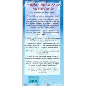 Carte de proclamation Proclamation pour mes enfants