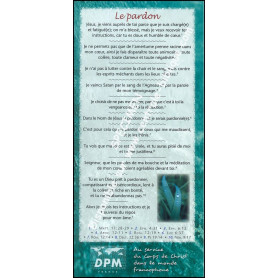 Carte de proclamation Le pardon