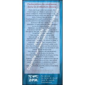 Carte de proclamation Protection Divine