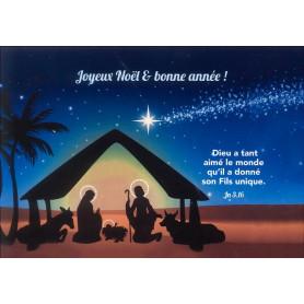 Carte simple Noël Jean 3.16