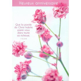 Carte simple Anniversaire - 1 Colossiens 3.16